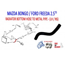 MAZDA BONGO 2.5TD 1995 - 2006 PATTERN COOLANT HOSE ( 184 ) AJU598006