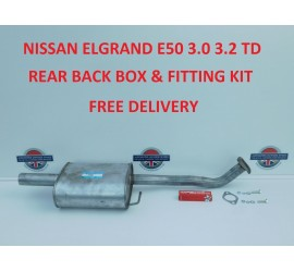 ELGRAND 3.0TD EXHAUST REAR BOX AJU16001