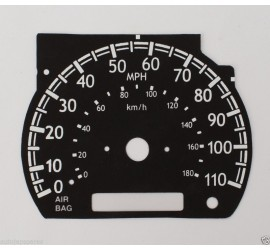 Compatible With Nissan Elgrand E50 3.0TD KPH to MPH Speedo Converter Black Dial