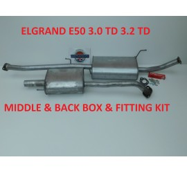 COMPATIBLE WITH NISSAN ELGRAND 3.0TD MIDDLE &  BACK BOX EXHAUST KIT