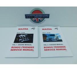 Mazda Bongo 2.0 & 2.5 V6 Petrol FE-E J5-DE Engine & Chassis Manual 2 Piece Set